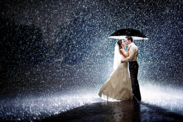 Wedding Rain Photo