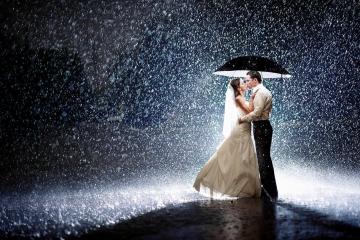 Wedding Rain Photo