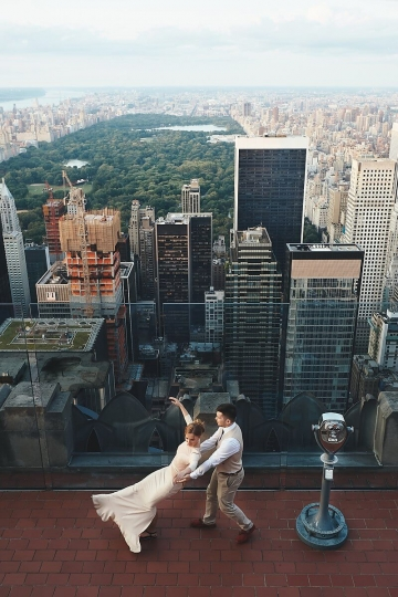 Top of The Rock Wedding Photo