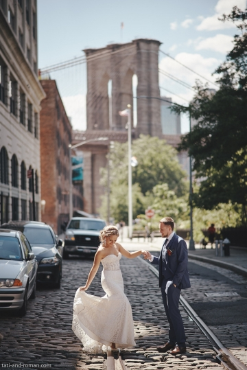 Brooklyn Bridge Wedding Photo