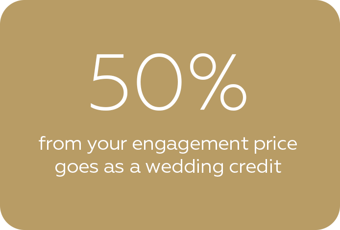 Get 50% of your engagement price as a wedding photo credit