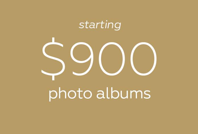 Wedding photo albums prices starting $900