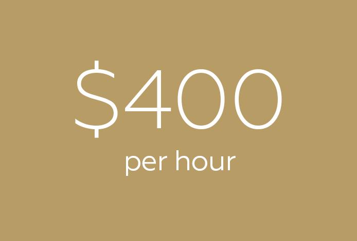 $400 per hour