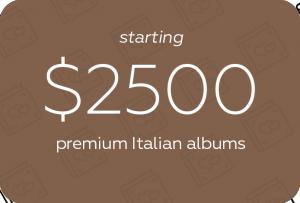 premium albums starting $2500